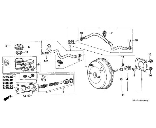 Цилиндр тормозной главный Honda Accord 7 (2002-2007)