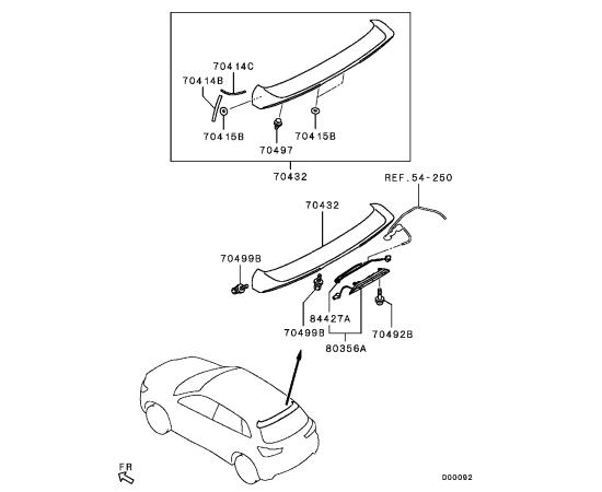 Спойлер крышки багажника Mitsubishi ASX (2010-н.в.)